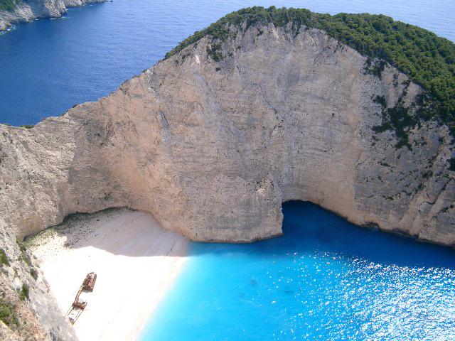 Shipwreck in zakynthos island for The balcony zante